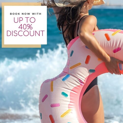 40% book now
